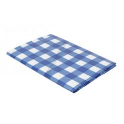 Terítő, viaszos vászon, 132×178 cm, kék kockás
