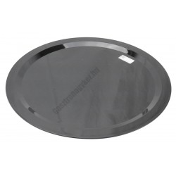 Kínáló tálca 50 cm kerek fekete polikarbonát