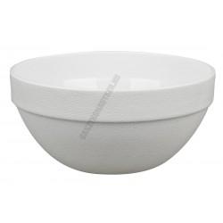 Salátás és tálaló tál kerek 23 cm, 3 liter fehér polikarbonát