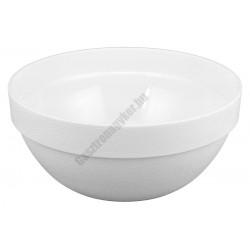 Salátás és tálaló tál kerek 29 cm 6 liter fehér polikarbonát