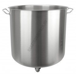 Ételmaradék-tároló 90 liter, 50×50 cm, rozsdamentes, gurulós