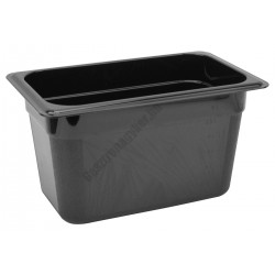 Polikarbonát Gn edény 1/4 150 mm, fekete