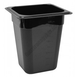Polikarbonát Gn edény 1/6 200 mm, fekete