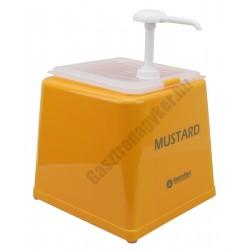 Mustár adagoló pumpás polikarbonát /sárga/ 22,5x34 cm