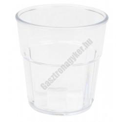 Polikarbonát whisky pohár 250ml, bordázott