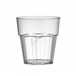 Polikarbonát pohár, 250 ml, átlátszó, Kasablanka