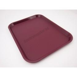 Műanyag tálca, burgundi színű, 35,6x25,4 cm