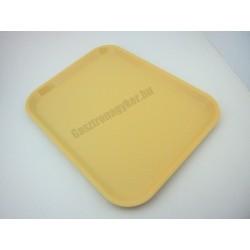 Műanyag tálca, bézs, 45,7x35,6 cm