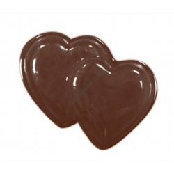 Valentin napi csokoládéforma (90-1015), dupla szív, 11 adag, műanyag