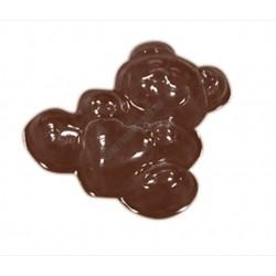 Valentin napi csokoládéforma (90-1018), maci szívvel, 14 adag, műanyag