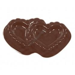 Valentin napi csokoládéforma (90-1021), szívek, 11 adag, műanyag