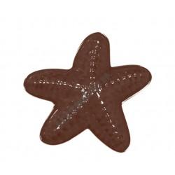 Figurás díszítő csokoládéforma (90-12840), tengericsillag, 8 adag, műanyag
