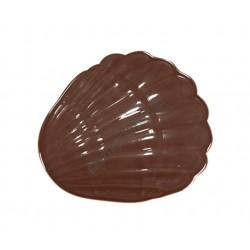 Figurás díszítő csokoládéforma (90-12841), kagyló, 8 adag, műanyag