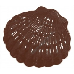 Figurás díszítő csokoládéforma (90-12876), kagyló, 6 adag, műanyag