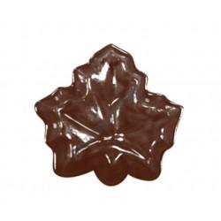 Figurás díszítő csokoládéforma (90-13025), levél, 14 adag, műanyag