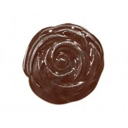 Figurás díszítő csokoládéforma (90-13036), virág, 18 adag, műanyag