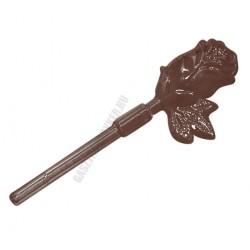 Figurás díszítő csokoládéforma (90-13114), virág, 4 adag, műanyag