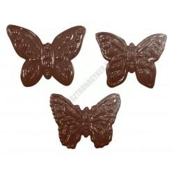 Figurás díszítő csokoládéforma (90-13179), pillangók, 5 adag, műanyag