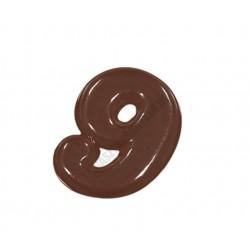 Figurás díszítő csokoládéforma (90-14243), számok, 9 adag, műanyag