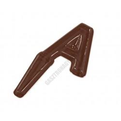 Figurás díszítő csokoládéforma (90-P9661), betűk A-M, 13 adag, műanyag