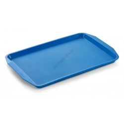 Műanyag tálca, 45x32x2 cm, kék