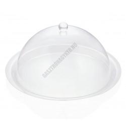 Búra-tányérfedő, kerek, 38x18 cm, akril
