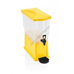 Juice adagoló, 14 l tartály, sárga, polipropilén