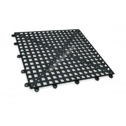 Csepegtetőrács, 30x30x2 cm, fekete, PVC, egymáshoz illeszthető