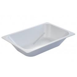 Fagylalttégely, 36x25x8 cm, 3,6 l, fehér, műanyag