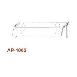 Egysoros átadó hajlított üveggel, leheletvédővel 1200 mm-es pulthoz AP-1002 1200