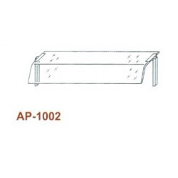 Egysoros átadó hajlított üveggel, leheletvédővel 1500 mm-es pulthoz AP-1002 1500