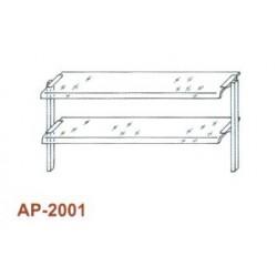 Kétsoros átadó hajlított üveggel 1200 mm-es pulthoz AP-2001 1200