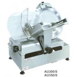 Szeletelőgép AU 350/S, 350mm tárcsa, fix késélező, szeletelő automatika, 230V/350W, 620×390×350
