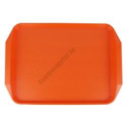 MD tálca méret 40×30 cm narancssárga polipropilén, csúszásgátlós felülettel