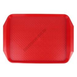 Md tálca méret 40×30 cm piros polipropilén, csúszásgátlós felülettel