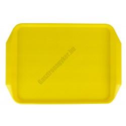 Md tálca méret 40×30 cm sárga polipropilén, csúszásgátlós felülettel