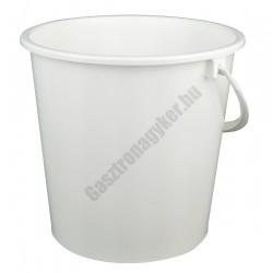 Vödör 8 liter 26×25 cm, műanyag füllel