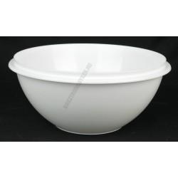 Keverőtál 2,7 liter 24 cm, fehér, műanyag