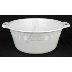 Peremfüles tál 36 cm 9 liter, fehér, műanyag
