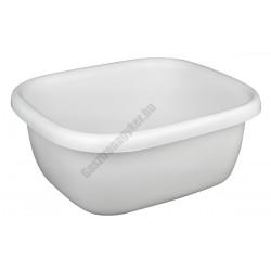Szögletes tál 34,5×39,5×16 cm 9,5 liter, fehér, műanyag