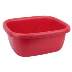 Szögletes tál 34,5×39,5×16 cm 9,5 liter piros