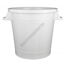 Moslékos dézsa, 50 liter, 46×44 cm, műanyag, fedő nélkül