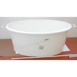 Sózókád 70 liter, 72×57×30 cm, ovális, fehér, műanyag