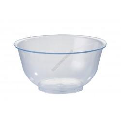 Keverőtál, 0,4 liter, 13 cm, átlátszó polikarbonát