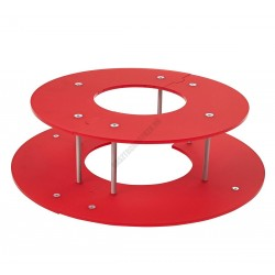 Csokoládészökőkút gyűrű, 520x160 mm, piros