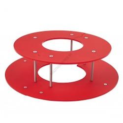 Csokoládészökőkút gyűrű, 650x170 mm, piros