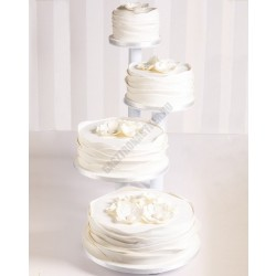 Tortaállvány, 4 részes, kör