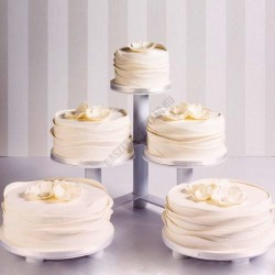 Tortaállvány, 5 részes, kör
