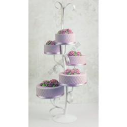Tortaállvány, 5 emeletes, Romantic