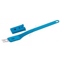 Kenyérmintázó kés, egyenes, kék nyél